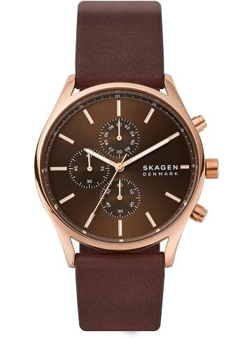 Skagen Chronograph Uhr 'Holst' In Braun/Braun