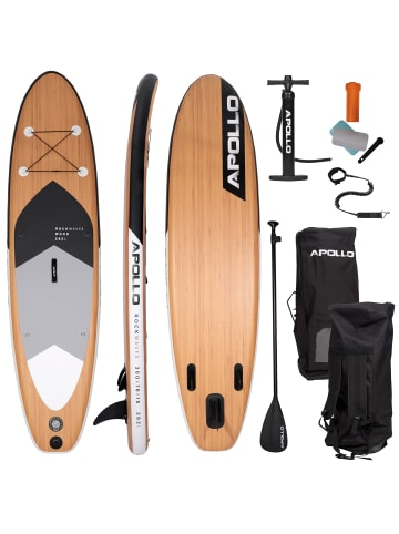 """Apollo Aufblasbares Stand Up Paddle Board """" SUP - Wood """" in holz"""