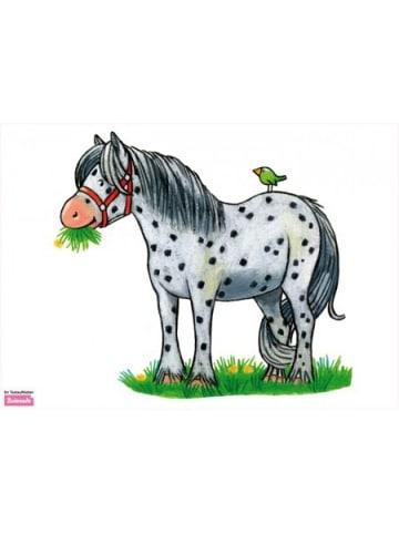 Beiwanda Wandtattoo gepunktetes Pferd und kleiner Vogel