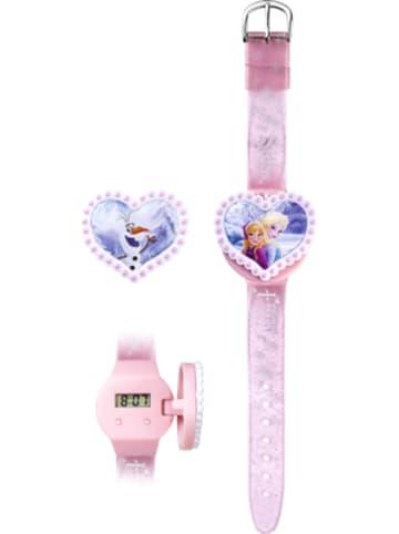 JOY TOY LCD-Uhr mit 2 Abdeckmotiven Die Eiskönigin