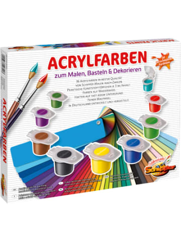 Schipper Set Acrylfarben, 36 x 3 ml + Pinsel + Farbmischtöpchen