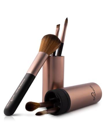 "Luvia Cosmetics 5-tlg. Set: Reise-Pinselset ""Travel Tube"" in Coffee - Vegan"