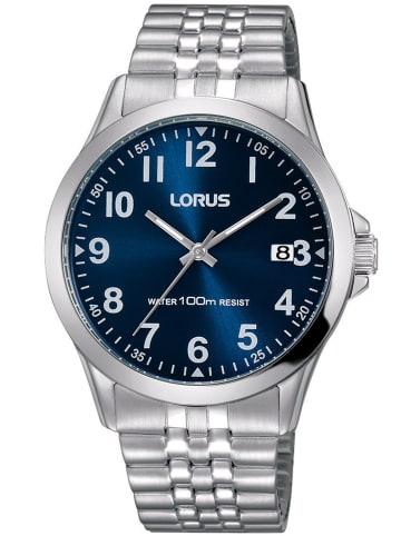 Lorus Herrenuhr mit Flexband Blau / Silber
