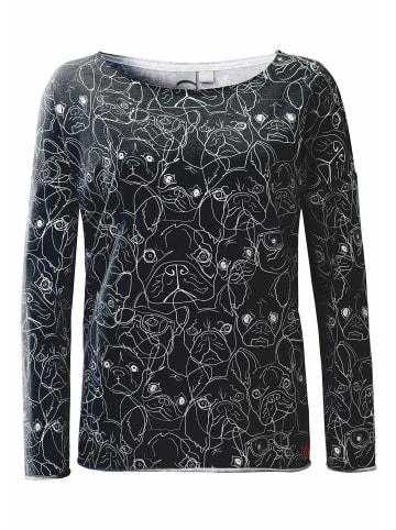 ViertelMond Sweatshirt Sophina in grau/weiß