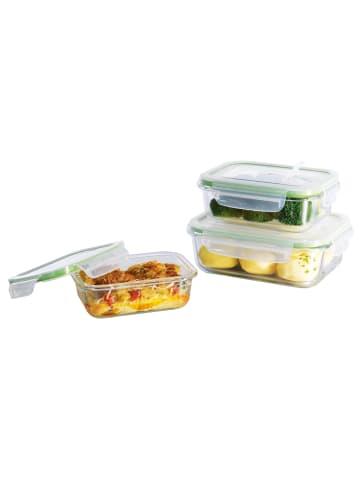 "Gourmetmaxx 6tlg. Set: Glas-Frischhaltedosen ""Klick-it"""