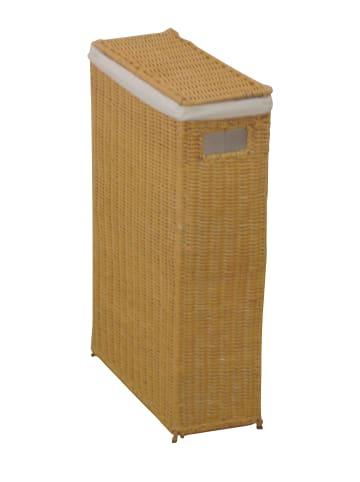 Möbel-direkt Raumspar-Wäschekorb Wäschekorb in Rattan beigefarben