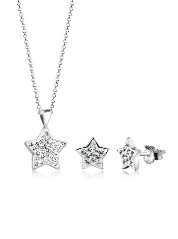 Nenalina Schmuckset 925 Sterling Silber Sterne in Silber