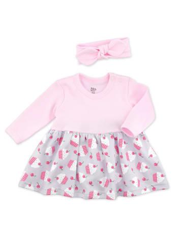 Baby Sweets 2tlg Set Kleid + Haarschmuck Little Cupcake in bunt