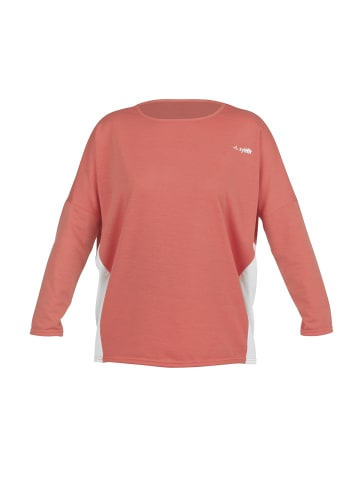 Syltfit Sweater in Koralle / Weiß
