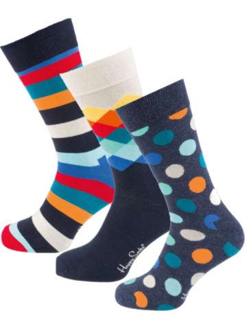 Happy Socks 3er Pack Classic Multi-colors Gift Set Socken