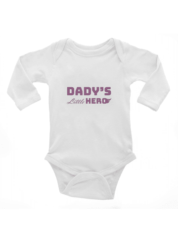 Idil Baby Baby-Body -Dady's little hero in Weiss