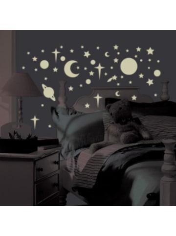 Room Mates Wandsticker Leuchtsterne & Planeten, Glow in Dark, 258-tlg.
