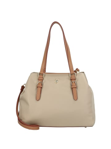 U.S. Polo Assn. Houston Schultertasche 32 cm in light taupe