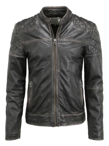Goosecraft Lederjacke GC Brentwood biker in black
