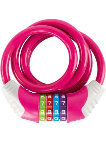 PUKY Kinder-Fahrradschloss, pink
