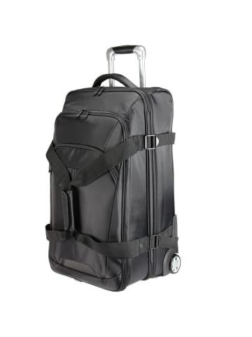 Dermata Rollenreisetasche 66 cm in schwarz