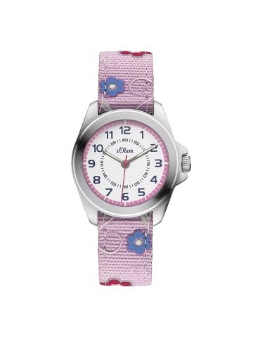 S.Oliver Time Armbanduhr SO-3175-LQ in rose/blau/weiß