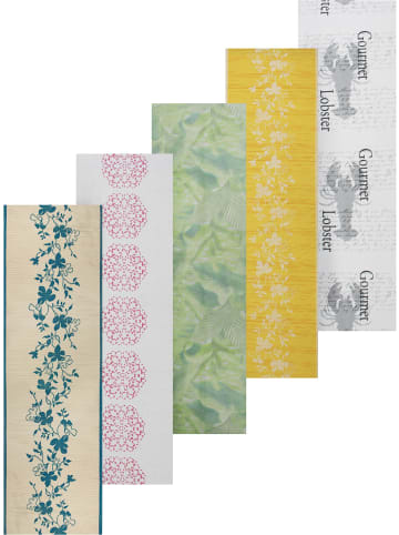 Aspero 5 er-Set Tischläufer - Tischdecken mit verschiedenen Motiven in Floral