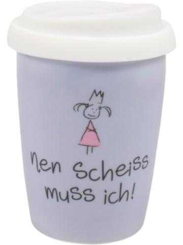 """Mea Living Coffee to go Travel Mug """"nen Scheiss muss ich"""", 250ml"""
