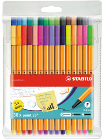 STABILO Fineliner point 88 NEON, 25 & 5 Farben