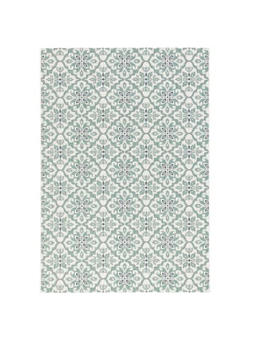 Pergamon In & Outdoor Teppich Carpetto Fliesenoptik in Mintgrün