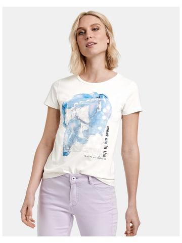 TAIFUN T-Shirt Kurzarm Rundhals in Weiss
