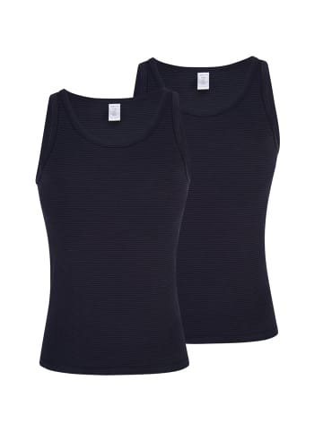 Ammann Sportjacke Unterhemd 2er Pack Cotton & More in Nightblue