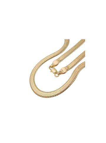 Gallay Kette Fantasiekette Schlange 5mm flach gedrückt vergoldet AMD 50cm in gold
