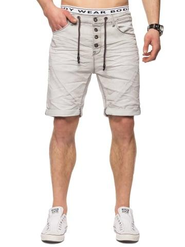 Sublevel Bermuda Sweat Jeans Shorts Stretch Pants in Hellgrau-3