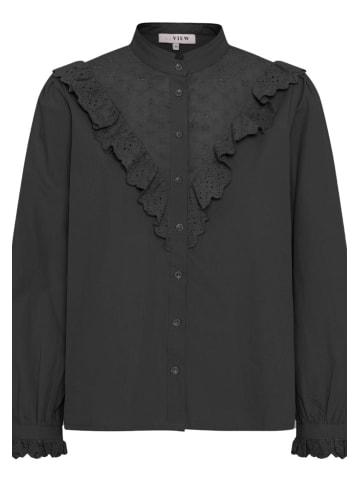 A-View Langarmbluse Katja in schwarz