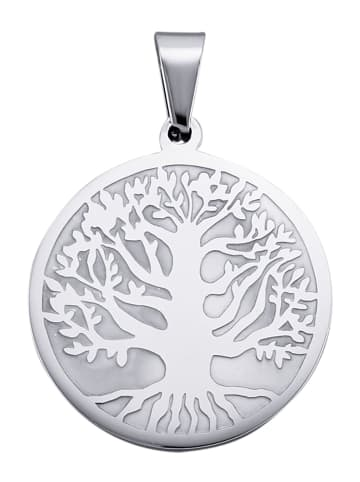Magnetic Balance Lebensbaum-Anhänger in Silberfarben