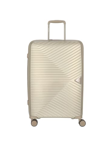 March15 Trading Gotthard 4-Rollen Trolley 67 cm in silver / bronze metallic