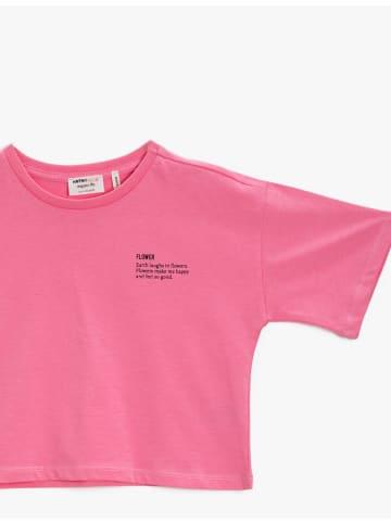 Mamino Kindermode Mädchen T Shirt -Flower in pink