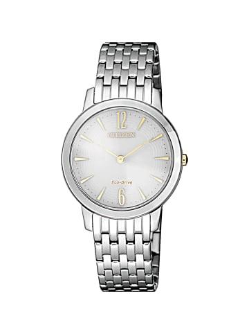 Citizen Analog Uhr 'Elegance' In Grau/Silber