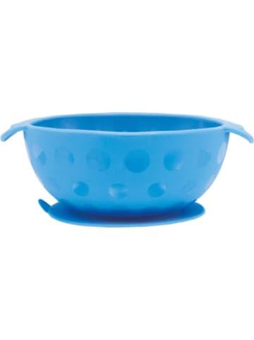 Nuby Esslernschale aus Silikon mit Saugfuß, Blue