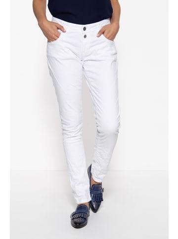 Way of Glory Way of Glory WAY OF GLORY Damen Jeans mit Waschungen in weiß