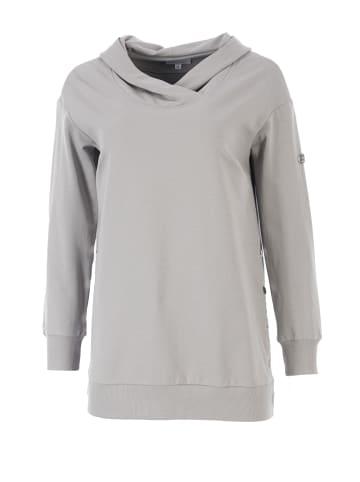 HELMIDGE Kapuzensweatshirt im lockeren Schnitt in grau