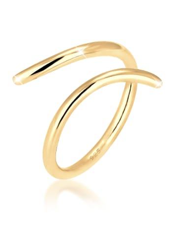 Elli Ring 925 Sterling Silber Geo, Wickelring in Gold