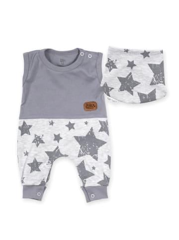 Baby Sweets 2tlg Set Strampler + Halstuch Lieblingsstücke Sterne in grau