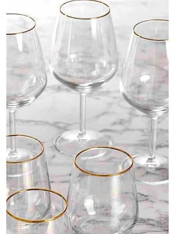 BELLA MAISON Weingläser Sparkle in Durchsichtig
