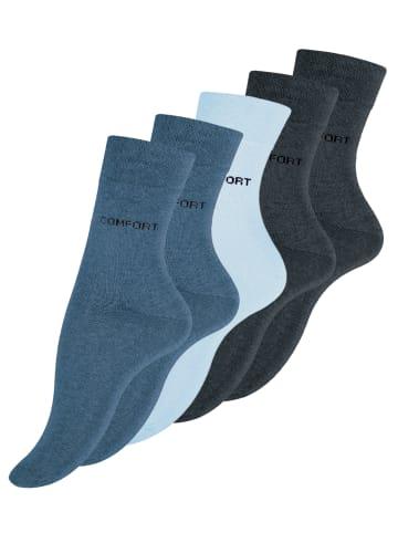 VCA® Baumwoll-Socken 10 Paar in Blautöne