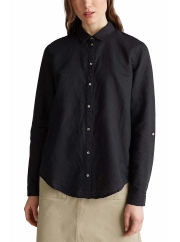 ESPRIT Unifarben Hemden in schwarz
