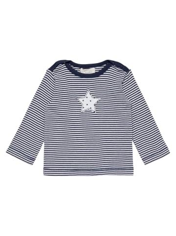 "Sense Organics Organic Baby Langarmshirt ""Luna"" in Navy-Weiß"