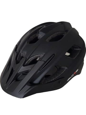 SkullCap MTB Fahrradhelm matt mit Visier u. Helmschild in schwarz