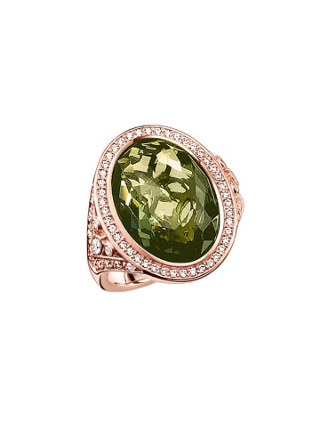 """Thomas Sabo Ring """"TR2022-416-6"""" in gold und grün und weiß"""