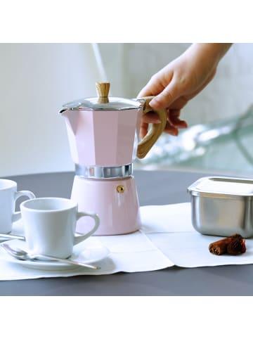 Gnali&Zani Espressokocher Venezia in rosa - 3 Tassen