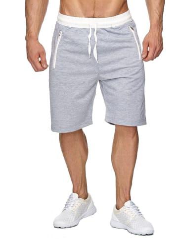 EGOMAXX Sweat Shorts Kurze Jogging Hose Bermuda Sporthose H1927 in Hellgrau