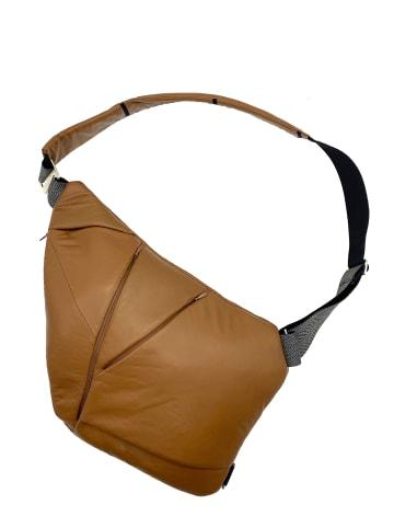 Baggizmo Bauchtasche Baggizmo Bag smarte Umhängetasche in braun