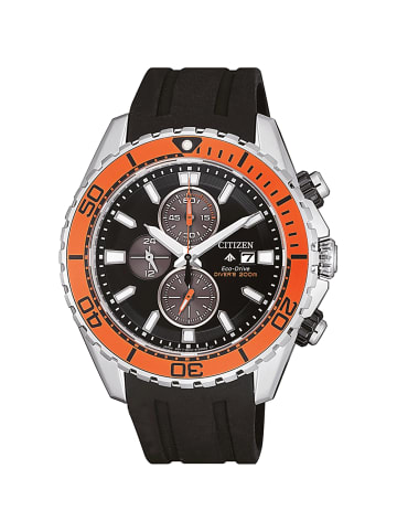 Citizen Chronograph Uhr 'Promaster Land' In Schwarz/Schwarz