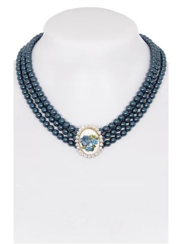 Alpenwahn Collier 3reihig 3797 blau